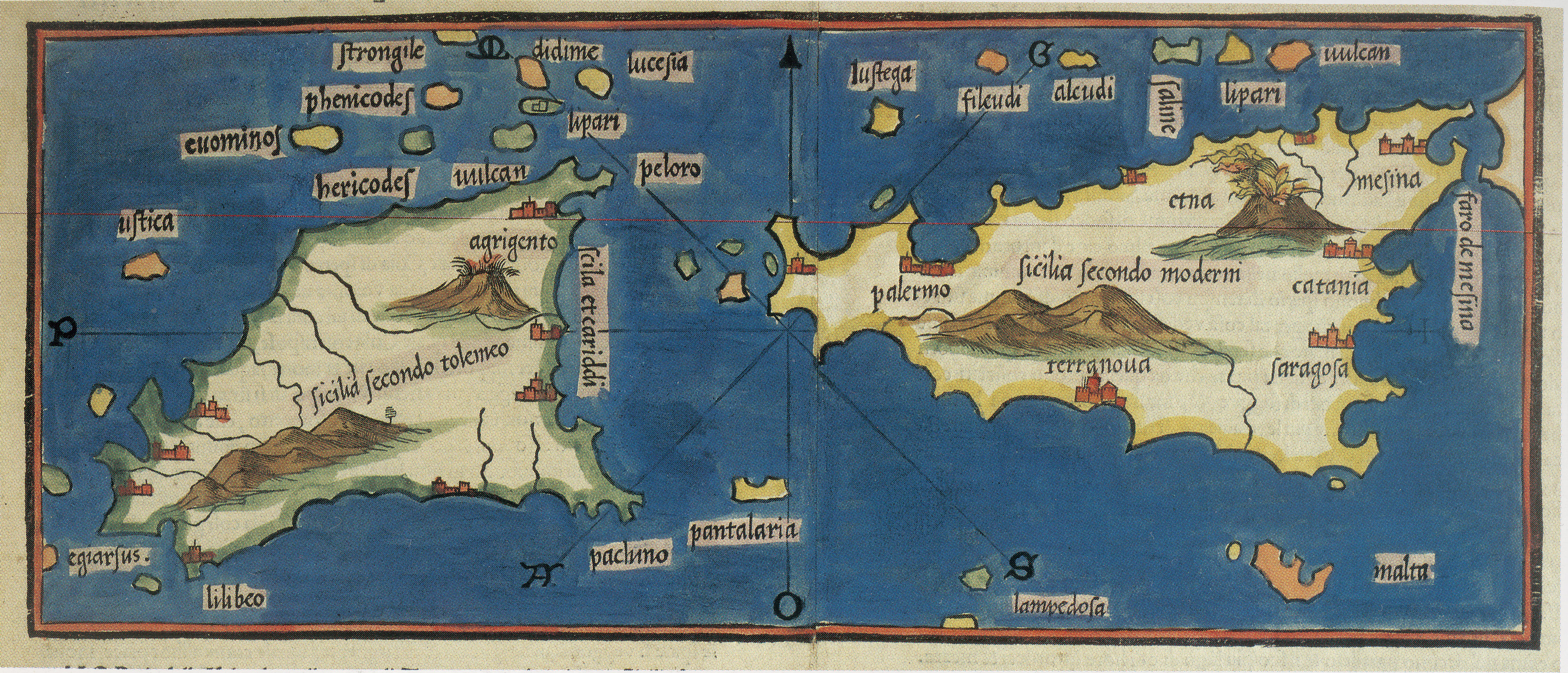 foto Sicilia secondo Tolomeo, Sicilia secondo moderni